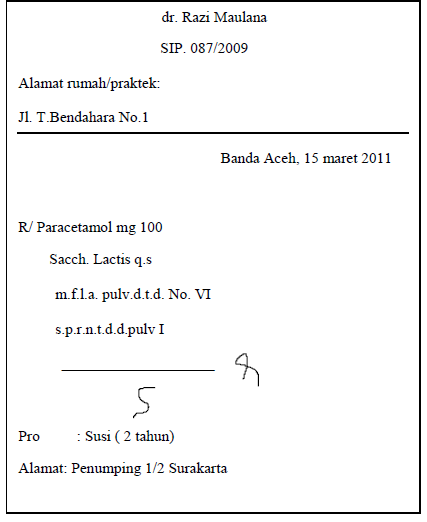 Teknik/Kaidah Penulisan Resep | dr.Razi